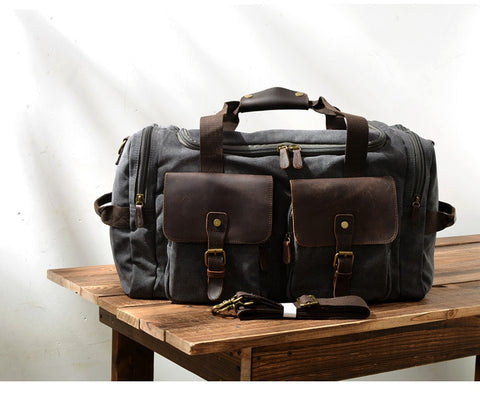 Free Shipping,Brand Casual Men Cowhide Handbag.Style Travel Bag,Quality Big Canvas Bag,Vintage