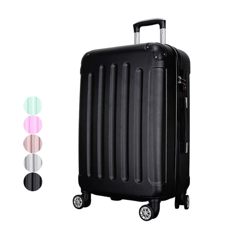 Abs Plastic Rolling Luggage Traveling Luggage Bags With Spinner Wheels Suitcases Trolley Bag For