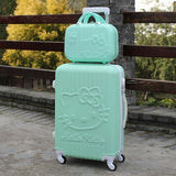 Hello Kitty Rollingluggage Bag ,Women Travel Suitcase,Abs Cartoon Box,Fashion Carry On,Kids
