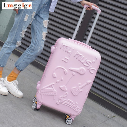 "20""24""Inch New Trolley Case, Fashion Rolling Luggage ,Women Travel Suitcase Bag, Universal Wheel"