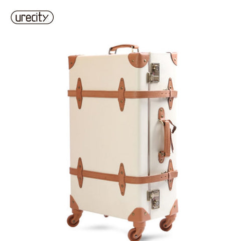 2018 travel luggage pigskin leather material suitcase rolling spinner genuine unisex carry-ons high quality free shipping