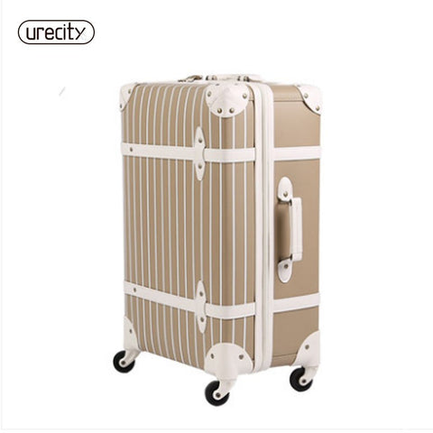 2018 New Universal Wheels Luggage Travel Suitcase Password Large Spinner Trolley Luggage Brake