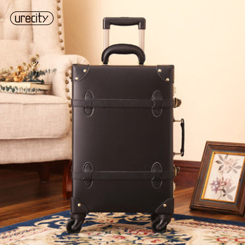 "2018 new luggage rolling spinner travel trolley luggage wheels genuine leather TSA lock travel carry on 20""24"" free shipping"