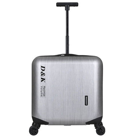 18 Inches Aluminum Alloy Frame Business Trip Travel Malas De Viagem Com Rodinhas Trolley Suitcase