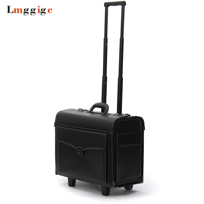 "19""Inch Rolling Cabin Luggage Bag,Flight Attendants Travel Suitcases,Commercial Password Trolley"