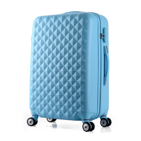 Wholesale!24Inches Korea Fashion Abs Yellow Blue Hardside Trolley Travel Luggage On Universal