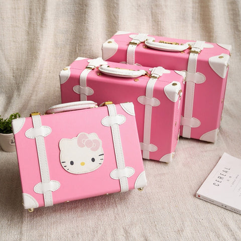 Cartoon Child Luggage Bag Cosmetic Box Mini Retro Suitcase Female Small Box Vintage Small