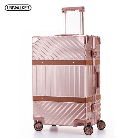 Uniwalker Abs+Pc Hardside Luggage Unisex 20 24  26  29 Vintage Travel Suitcase Spinner Wheels Tsa
