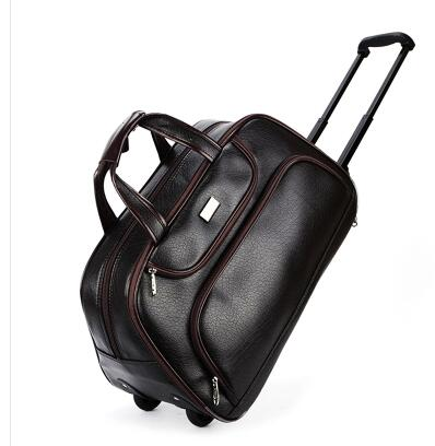 Men Wheeled Travel Bags Pu Travel Trolley Bags On Wheels Boarding Luggage Bags For Men Rolling Bag With Wheels Man Travel Duffel