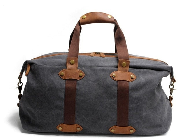 Men'S Travel Bags Casual Canvas Carry On Luggage Bags Male Duffel Bags Travel Tote Large Weekend