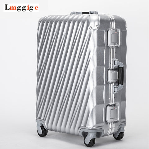 Aluminum Frame+Pc Travel Rolling Lugagge Suitcase Bag,Malas De Viagem Com,Trip Box,Hardside Carry