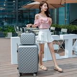 Carry-On Suitcase With Wheels Women Luggage With 14 Inch Travel Bag Cosmetic Bags Luggage Sets