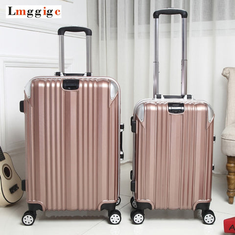 Men Aluminum Frame Rolling Luggage,Travel Suitcase Bag,Women Trolley Case, Wheel Carry-On,