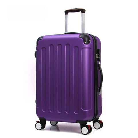 28 Inch Classic Striped Patch Trolley Suitcase/Rolling Spinner Wheels Pull Rod Luggage/Women Girl