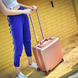 18 Inches Computer Trolley Case Business Rolling Hardside Luggage Password Boarding Case Casters