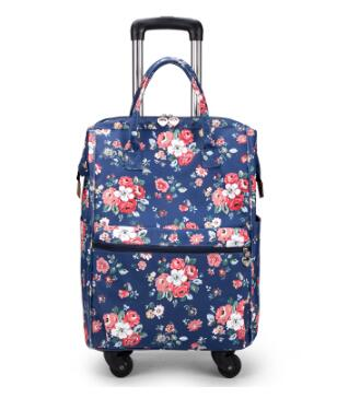 "20"" Travel Boarding Bags Trolley Bag With Wheels Carry On Luggage Suitcase Wheeled Rolling"