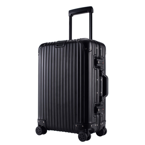 Kroeus Carry On Luggage Suitcase Aluminum Magnesium Alloy Tsa Lock Large Capacity 8 Wheels