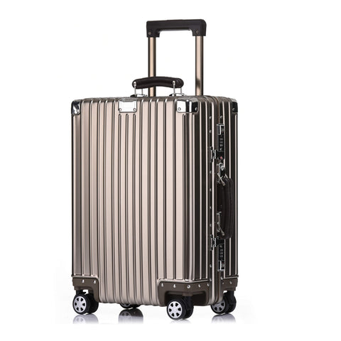 Kroeus Suitcase Carry Case Aluminum - Magnesium Alloy Body 8 Wheels Stepless Adjustment Tsa Lock