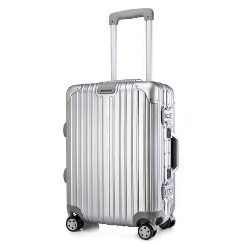 Kroeus Suitcase Carry Case Luggage Tsa Lock Aluminum Frame