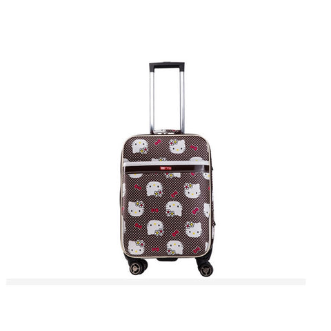 New 24 Inch Hello Kitty Spinner Travel Luggage Suitcase Sets Kids Student Women Trolleys Rolling