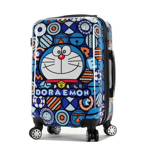 New Doraemon Cartoon Luggage Men And Women Fashion Travel Suitcase Universal Wheels Trolley Luggage