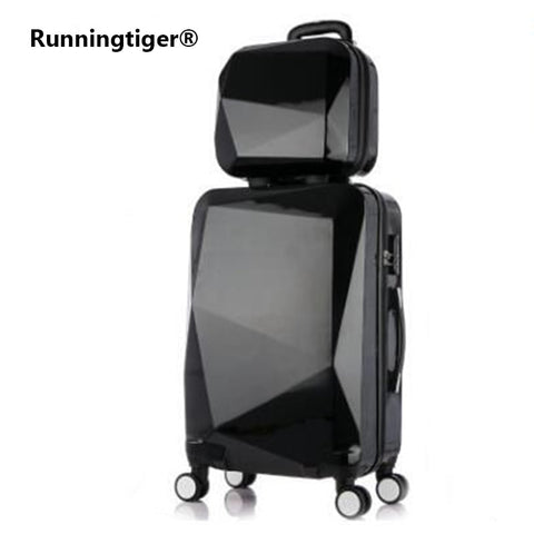 "20"" 24"" Inch Female Mirror Travel Suitcase Suitcase Luxury Brand Boarding Rolling Luggage On Wheels"