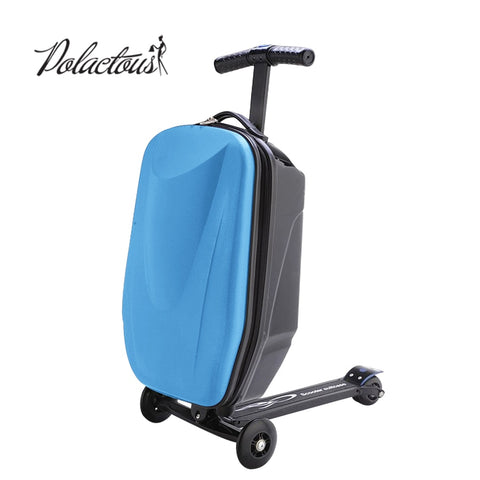 100% Pc Suitcase Fashion Students Scooter Boy Cool 3D Case Carts Extrusion Business Travel