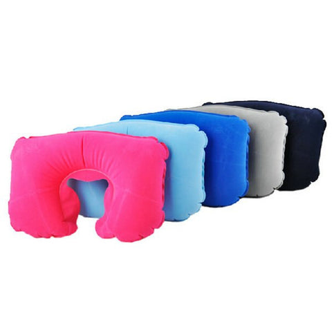 New Colorful Inflatable Travel Pillow Air Cushion Neck Rest U-Shaped Rest Compact Plane Flight