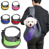 Pet Puppy Carrier Outdoor Travel Handbag Pouch Mesh Oxford Single Shoulder Bag Sling Mesh Comfort