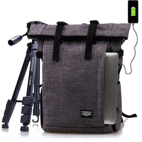 Photo Multi-Functional Waterproof Polyester Dslr Camera Shoulders Backpack Soft Padded Bag Fit