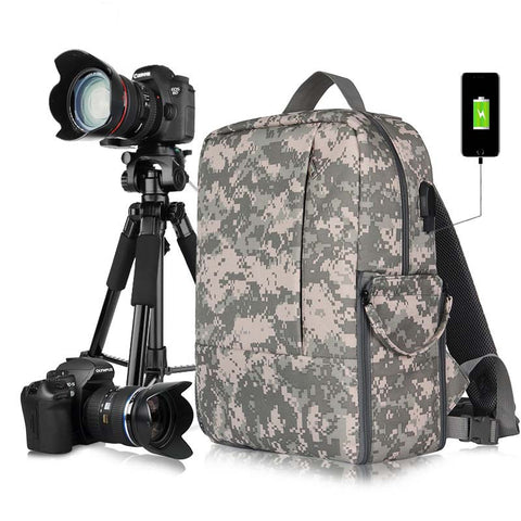 Photo Multi-Functional Photography Waterproof Dslr Camera Shoulders Soft Padded Backpack With