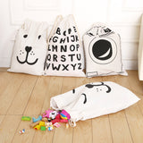Large Capacity Rope Pouches Cotton Linen Bag Drawstring  Laundry Toys Clothes Shoe Sundries Storage