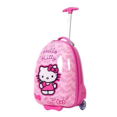 Hot Anime Girl Luggage Kids Rolling Suitcase Hello Kitty Cartoon 16/18 Inch Students Travel Trolley