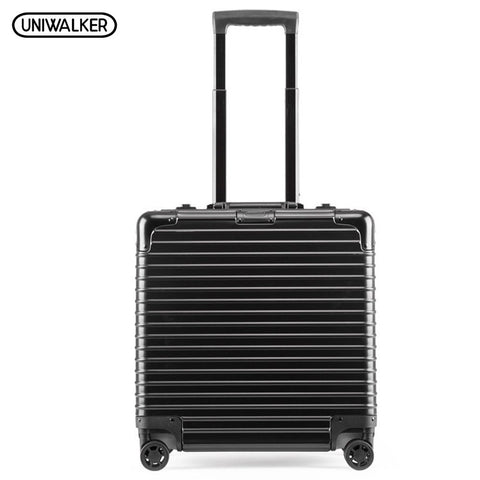 Uniwalker 100% Aluminum-Magnesium Alloy Bussiness Computer Luggage Rolling Luggage Carry-Ons