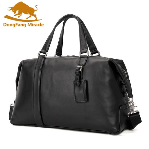 New Genuine Leather Men'S Travel Bag Luggage & Travel Bag Men Carry On Leather Duffel Bag Weekend
