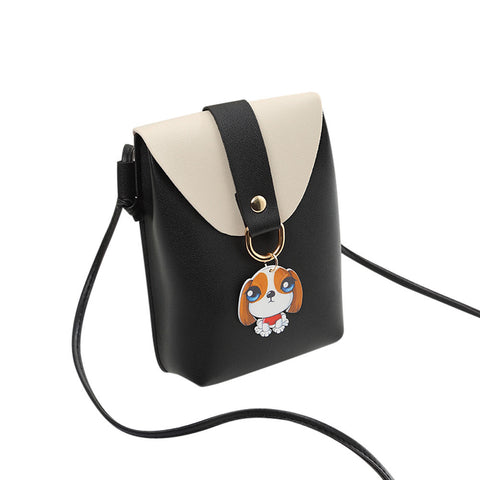 Women Fashion Cover Dog Crossbody Bag Shoulder Bag Phone Bag Coin Bag