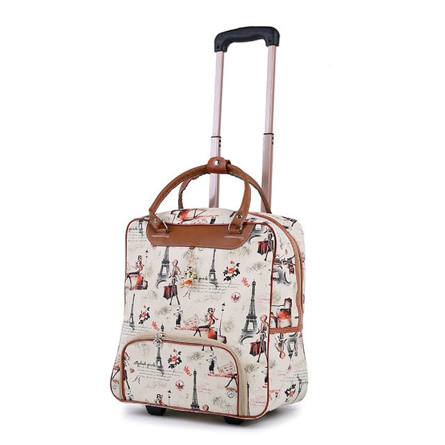 New Hot Fashion Women Trolley Luggage Rolling Suitcase Brand Casual Stripes Rolling Case Travel Bag