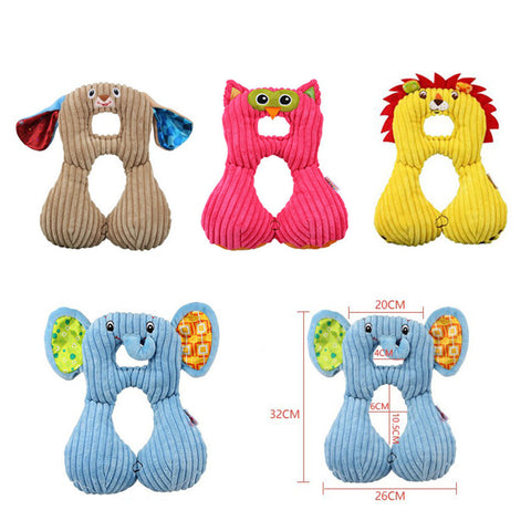 Baby Travel Cushion Neck Head Pillow Cute Animal Baby Travel Neck Cushion Car Safety Seat Neck Head