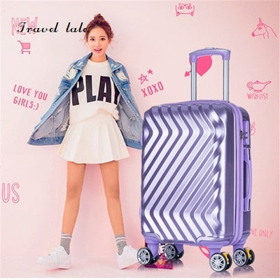 Travel Tale Twill Fashionable High Quality Can Boarding 20/24 Inches Pc Rolling Luggage Spinner
