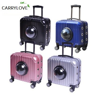 Carrylove Breathable, Convenient, Travel With Your Pet 16 Inch Size  Abs Rolling Luggage Spinner