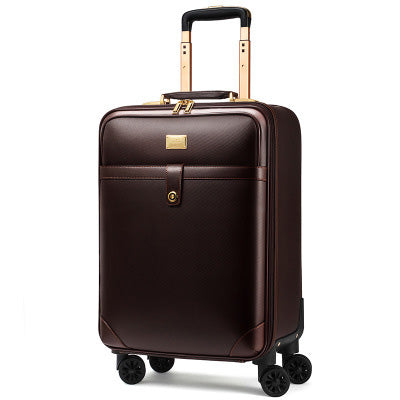 "Luxury Men Women 'S Travel Luggage Suitcase ,Waterproof Pvc Leather Box With Wheel ,16""20""22""24"""