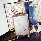 Wholesale!14 26Inches Pink/Green/Purple/Beige Abs Hardside Travel Luggage Bags On Universal