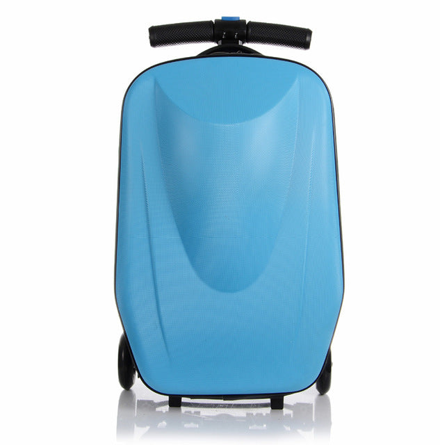 Letrend Men Skateboard Business Rolling Luggage Spinner Students Trolley Suitcases Wheel Women
