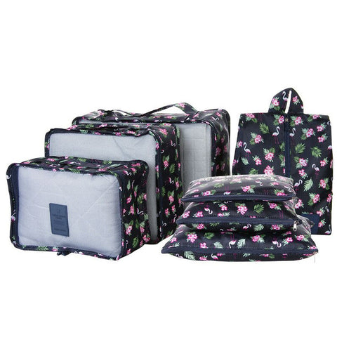Set Of 7 Travel Bag, Waterproof Organizer Storage Luggage Bags Portable Travelling Luggage