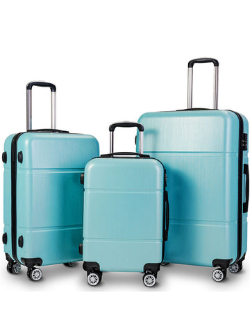 Costway 3Pc Luggage Set 20'' 24'' 28'' Trolley Suitcase Abs+Pc Spinner W/Tsa Lock
