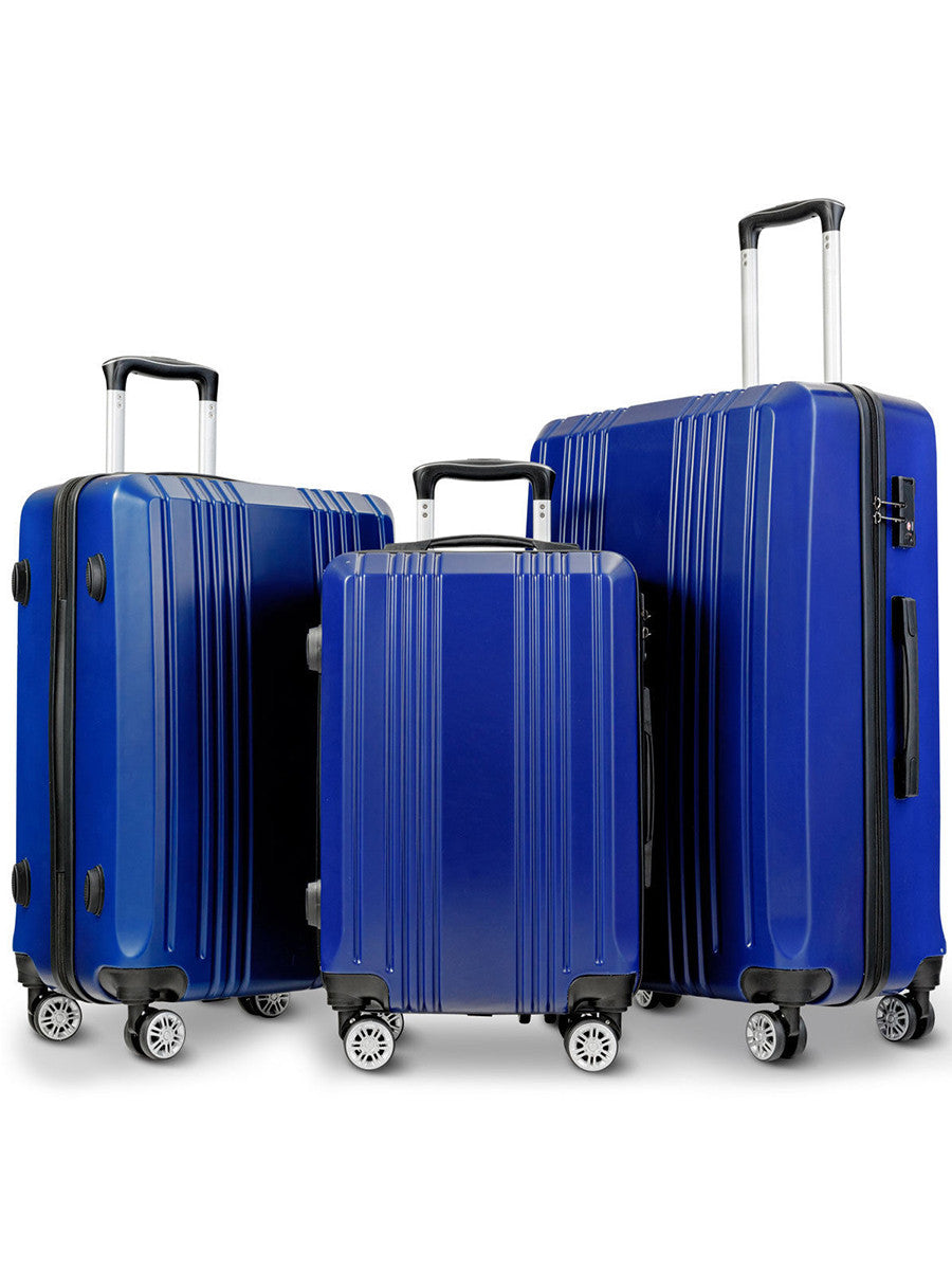 Costway 3Pc Luggage Set 20'' 24'' 28'' Travel Trolley Suitcase W/Tsa Lock Spinner