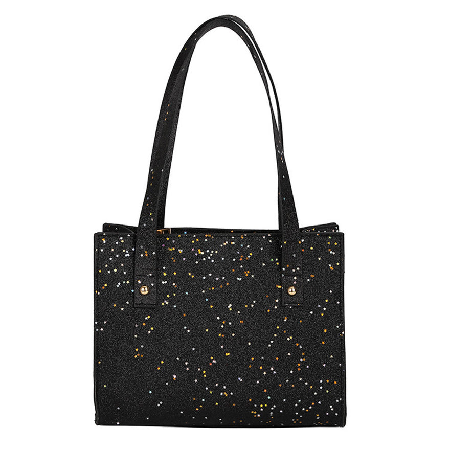 Women'S Fashion Sequins Leather Shoulder Bags With Corssbody Bag&Handbag
