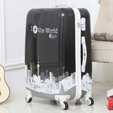 Women Travel Rolling Luggage Case, Girl'S Wheels Suitcase ,Lady Trolley Bag, Gift For Children,