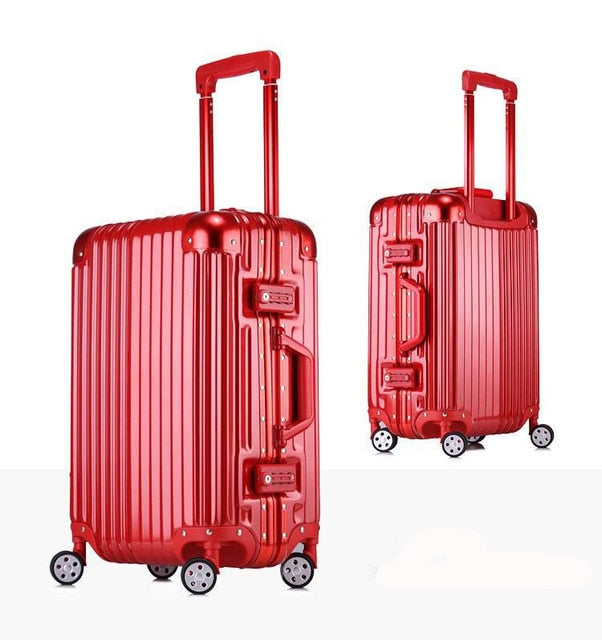 20''22''24''26''29'' Classic Rolling Luggage Aluminium Frame Trolley Solid Travel Cabin Women