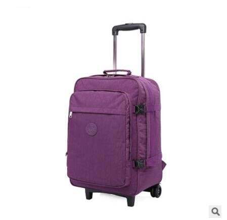Nylon Travel Rolling Luggage Bag Travel Boarding Bag With Wheels  Travel Cabin Luggage Suitcase